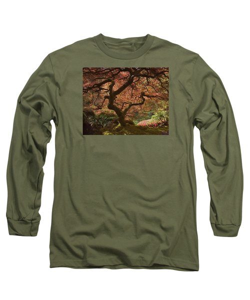 Red Maple Tree Long Sleeve T-Shirt