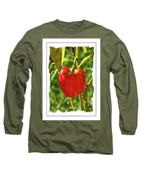 Red Pepper On The Vine Long Sleeve T-Shirt
