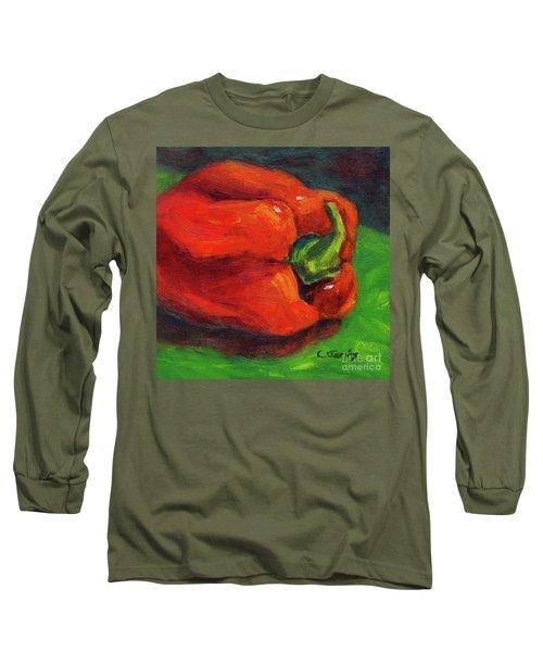 Red Pepper Still Life Long Sleeve T-Shirt
