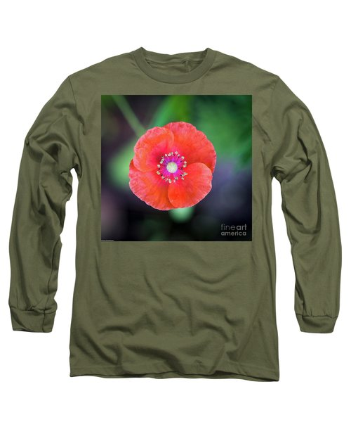 Red Poppy Long Sleeve T-Shirt