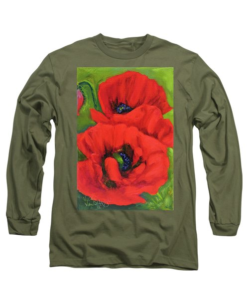 Red Poppy Seed Packet Long Sleeve T-Shirt
