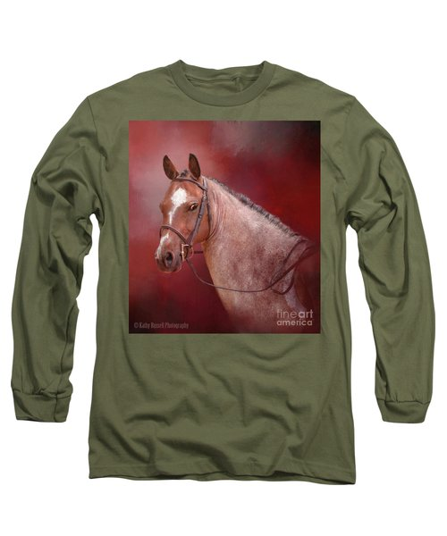 Red Roan Long Sleeve T-Shirt by Kathy Russell