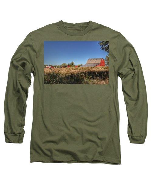 0042 - Red Saltbox Barn Long Sleeve T-Shirt