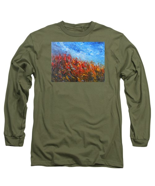Red Sensation Long Sleeve T-Shirt by Jane See