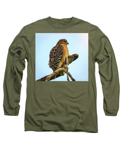 Red-shouldered Hawk - Buteo Lineatus Long Sleeve T-Shirt