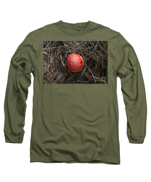 Red Spotty Toadstool Long Sleeve T-Shirt by Nareeta Martin