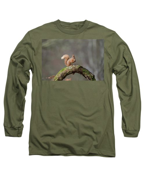 Red Squirrel Eating A Hazelnut Long Sleeve T-Shirt