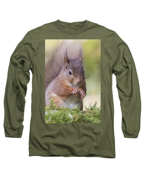 Red Squirrel - Scottish Highlands #1 Long Sleeve T-Shirt