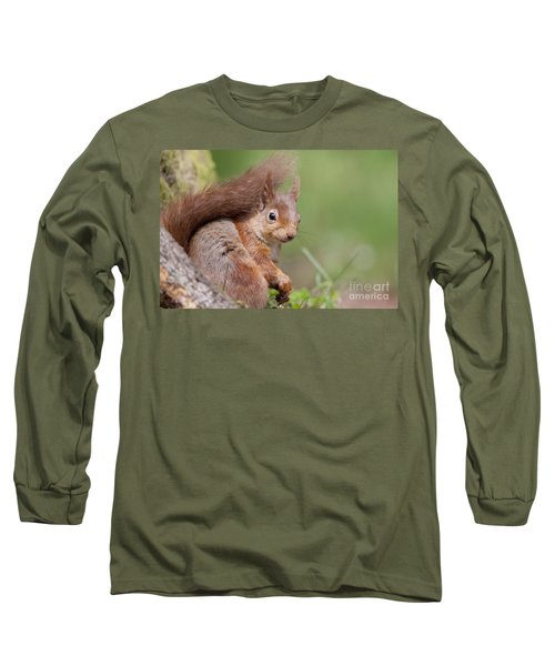 Red Squirrel - Scottish Highlands  #17 Long Sleeve T-Shirt