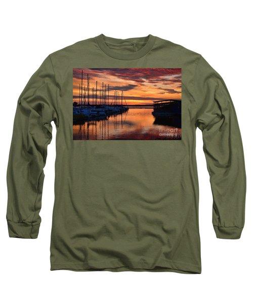 Red  Sunrise Long Sleeve T-Shirt