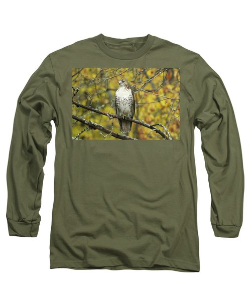 Red Tail Hawk 9887 Long Sleeve T-Shirt by Michael Peychich
