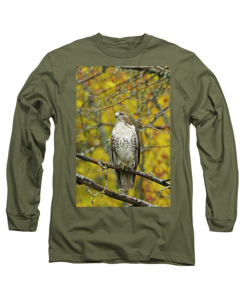 Red Tail Hawk 9888 Long Sleeve T-Shirt by Michael Peychich