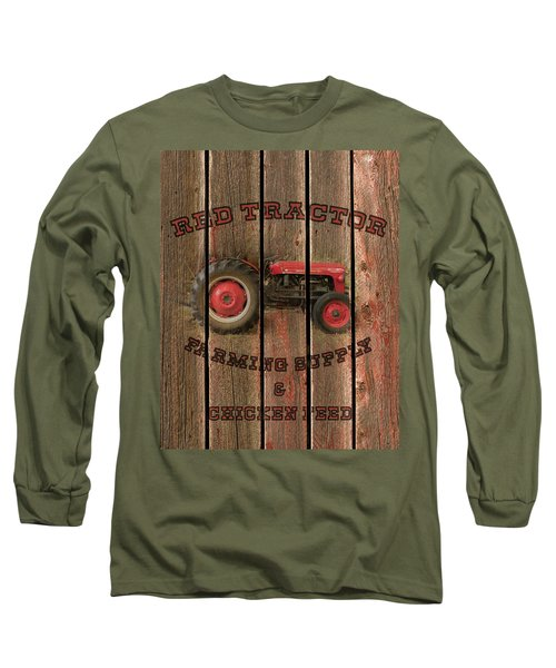 Red Tractor Farming Supply Long Sleeve T-Shirt