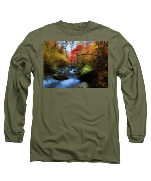 Red Tree In White Oak Canyon Long Sleeve T-Shirt