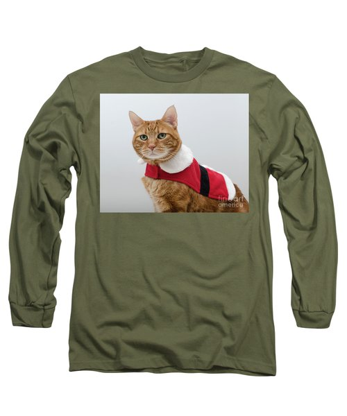 Red Tubby Cat Tabasco Santa Clause Long Sleeve T-Shirt