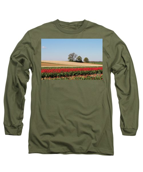 Red Tulips Landscape Long Sleeve T-Shirt