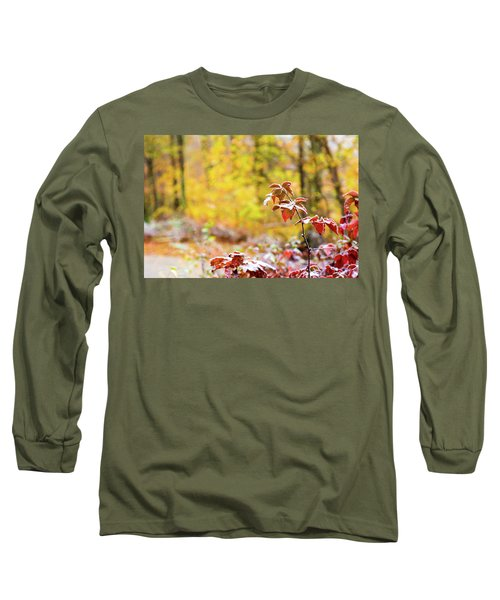 Red, White, Yellow Long Sleeve T-Shirt