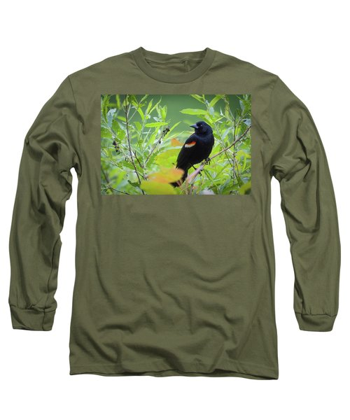 Red Wing In The Marsh Long Sleeve T-Shirt