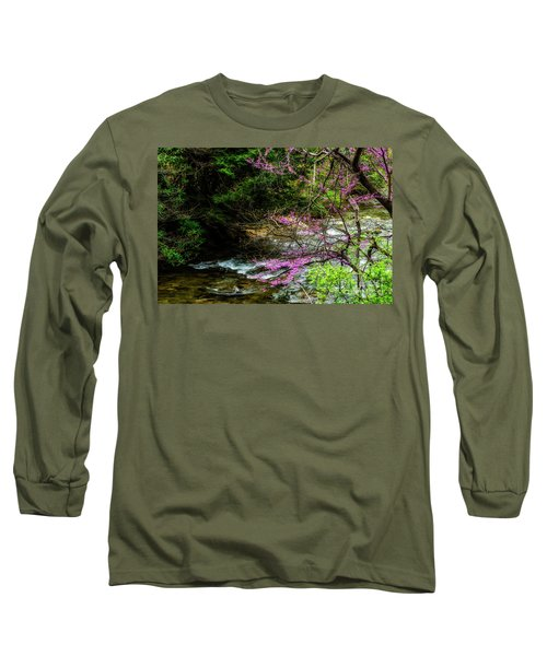 Redbud And River Long Sleeve T-Shirt