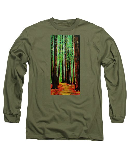Redwoods Majestic 2 Long Sleeve T-Shirt by Mike Caitham