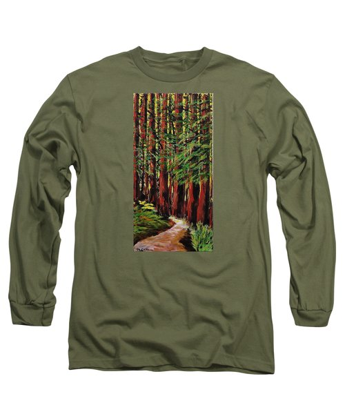 Redwoods Majestic 1 Long Sleeve T-Shirt by Mike Caitham