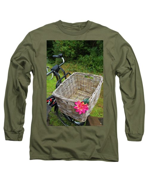 Reed Bicycle Basket Long Sleeve T-Shirt by Hans Engbers