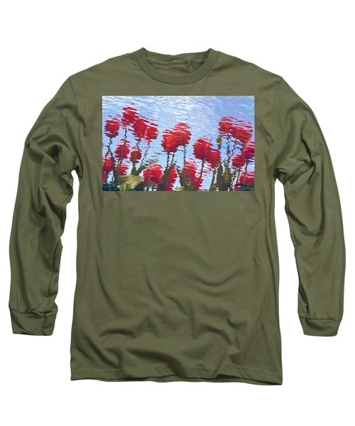 Reflected Tulips Long Sleeve T-Shirt