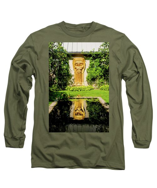 Long Sleeve T-Shirt featuring the photograph Reflecting Art by Greg Fortier