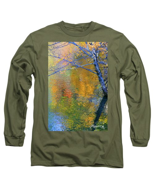 Reflecting Autumn Long Sleeve T-Shirt by Mariarosa Rockefeller