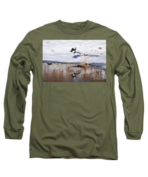 Reflecting Magpie Long Sleeve T-Shirt