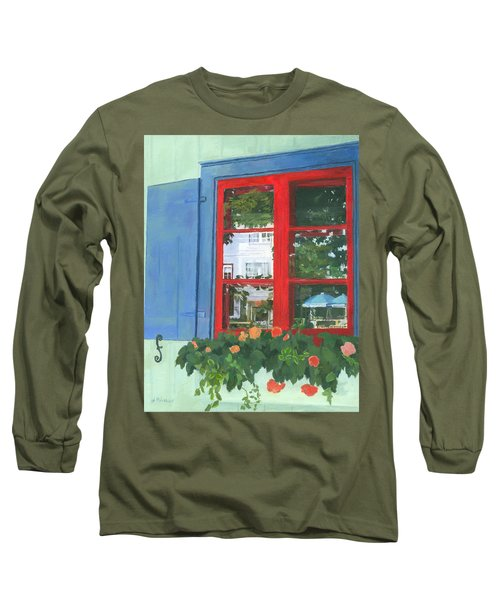 Reflecting Panes Long Sleeve T-Shirt by Lynne Reichhart