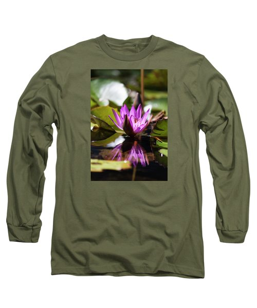 Long Sleeve T-Shirt featuring the photograph Reflection In Fuchsia by Suzanne Gaff