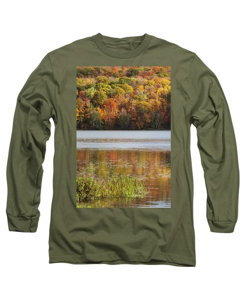Reflection Of Autumn Colors In A Lake Long Sleeve T-Shirt