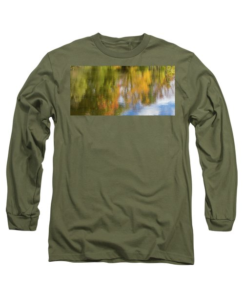 Reflection Of Fall #1, Abstract Long Sleeve T-Shirt