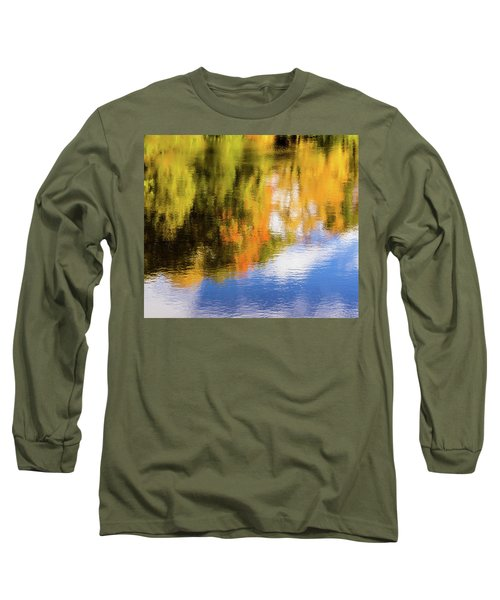 Reflection Of Fall #2, Abstract Long Sleeve T-Shirt