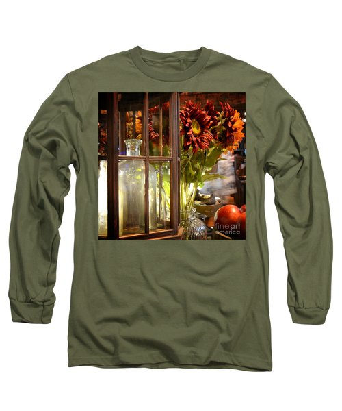 Reflections In A Glass Bottle Long Sleeve T-Shirt