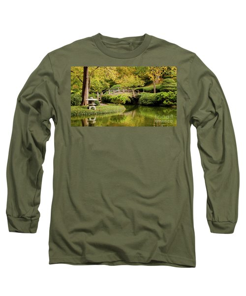 Long Sleeve T-Shirt featuring the photograph Reflections In The Japanese Garden by Iris Greenwell