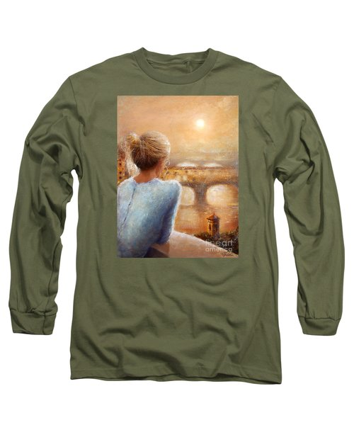 Long Sleeve T-Shirt featuring the painting Reflections Of Florence by Michael Rock