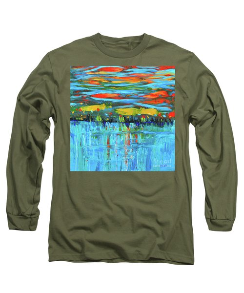 Reflections Sky And Landscape Abstract Long Sleeve T-Shirt