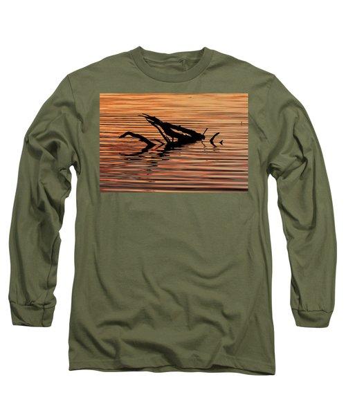 Reflective Abstract Long Sleeve T-Shirt