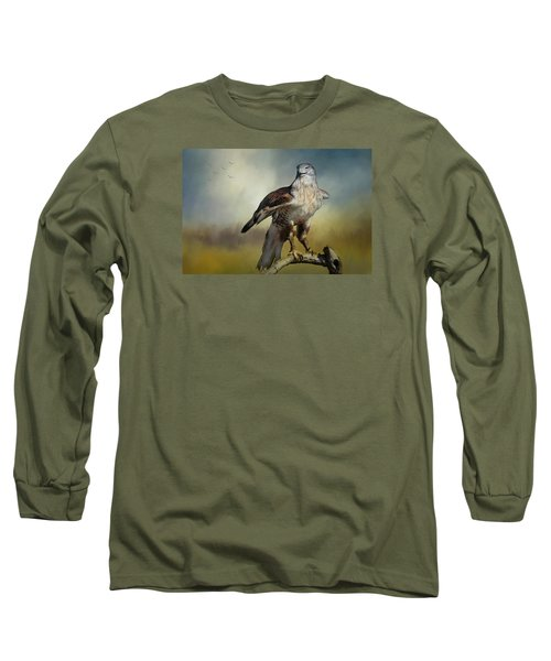 Long Sleeve T-Shirt featuring the photograph Regal Bird by Barbara Manis