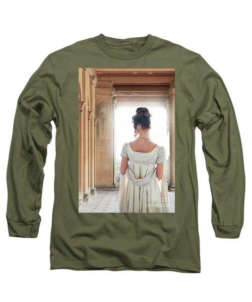 Regency Woman Under A Colonnade Long Sleeve T-Shirt