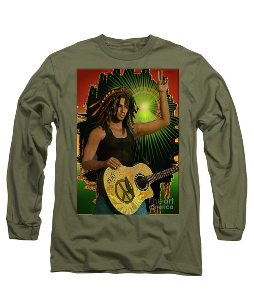 Reggae Peace Man Long Sleeve T-Shirt
