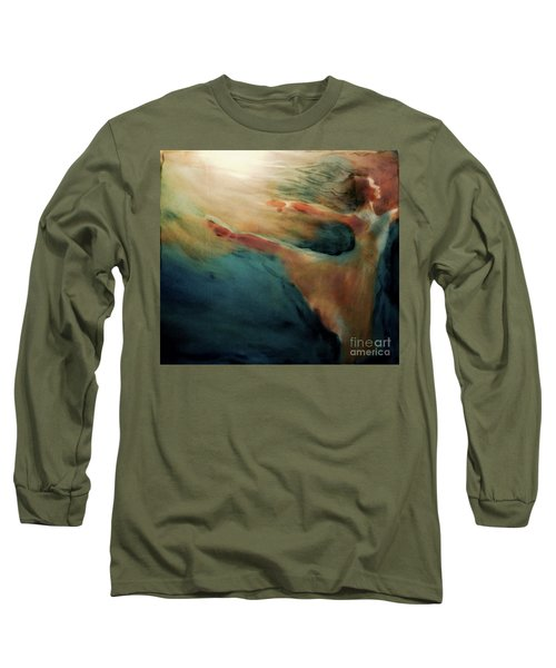 Long Sleeve T-Shirt featuring the painting Releasing Of The Soul by FeatherStone Studio Julie A Miller