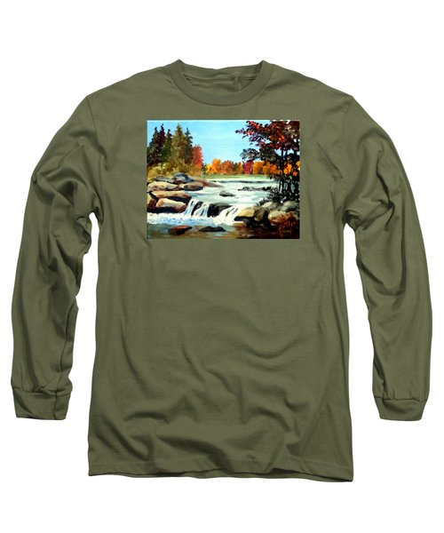 Long Sleeve T-Shirt featuring the painting Remembering The Little Broad River by Jim Phillips