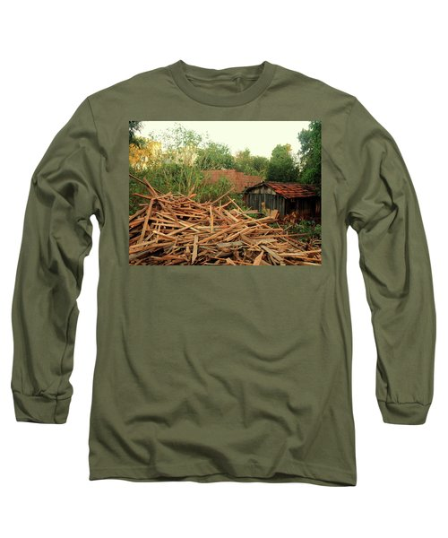 Long Sleeve T-Shirt featuring the photograph Remnants by Beto Machado
