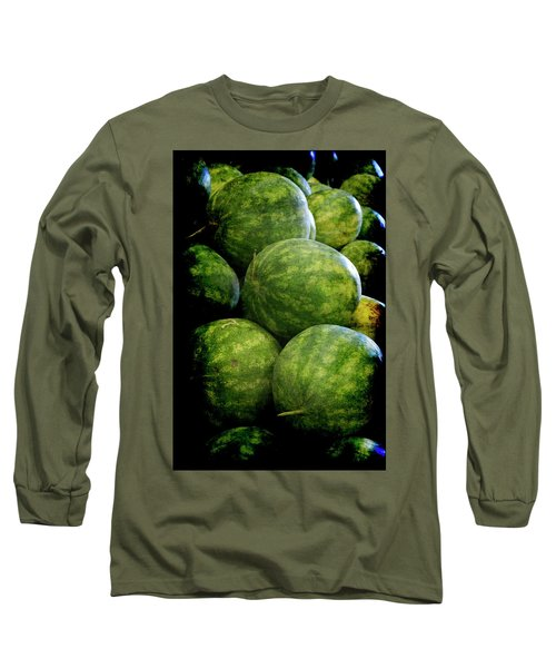 Renaissance Green Watermelon Long Sleeve T-Shirt