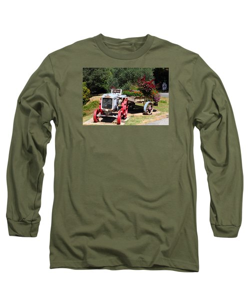 Long Sleeve T-Shirt featuring the photograph Renault Flower Bed by Richard Patmore