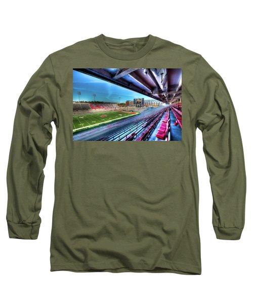 Renovated Martin Stadium Long Sleeve T-Shirt by David Patterson