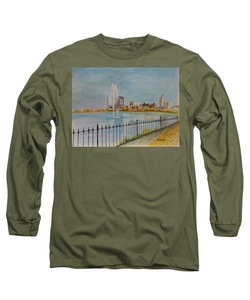 Reservoir In Central Park Long Sleeve T-Shirt